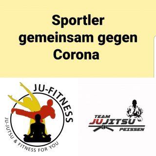 Sportler gemeinsam gegen Corona